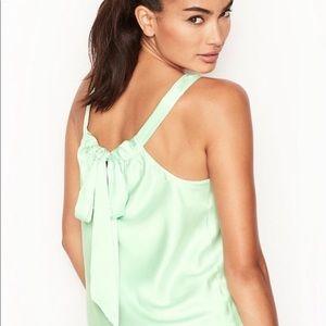 Victoria's Secret S NEW Mint Green Silky Sexy Tank